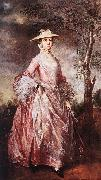 GAINSBOROUGH, Thomas Mary, Countess of Howe sd oil painting artist