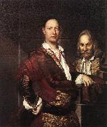 GHISLANDI, Vittore Portrait of Giovanni Secco Suardo and his Servant  fgh oil painting artist