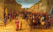 GRANACCI, Francesco Entry of Charles VIII into Florence  dfg oil painting picture wholesale