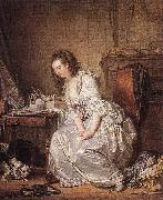 GREUZE, Jean-Baptiste The Broken Mirror sd oil painting artist
