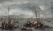 GUARDI, Francesco The Lagoon Looking toward Murano from the Fondamenta Nuove sdg oil painting picture wholesale