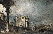 GUARDI, Francesco Capriccio with Venetian Motifs sg oil painting picture wholesale