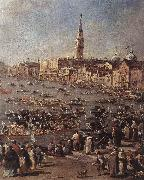GUARDI, Francesco The Doge on the Bucintoro near the Riva di San Elena (detail) oil painting picture wholesale