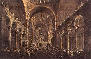 GUARDI, Francesco Doge Alvise IV Mocenigo Appears to the People in St Mark s Basilica in 1763 oil painting picture wholesale