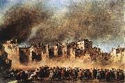 GUARDI, Francesco Fire in the Oil Depot at San Marcuola dg oil painting picture wholesale