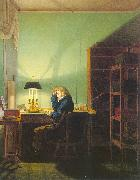 Georg Friedrich Kersting Man Reading by Lamplight oil painting picture wholesale