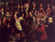 Gerard David The Marriage Feast at Cana oil painting picture wholesale