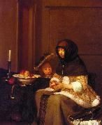 Gerard Ter Borch Woman Peeling Apples oil painting picture wholesale