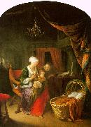 Gerrit Dou The Young Mother oil painting artist
