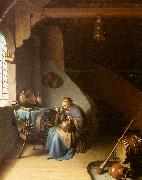 Gerrit Dou Woman Eating Porridge oil painting artist