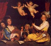 Gerrit van Honthorst The Concert oil painting artist