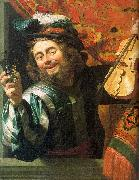 Gerrit van Honthorst The Merry Fiddler oil painting artist