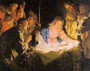 Gerrit van Honthorst Adoration of the Shepherds oil painting artist