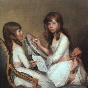 Gilbert Charles Stuart Miss Dick and her cousin Miss Forster oil painting picture wholesale