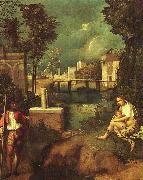 Giorgione The Tempest oil painting artist