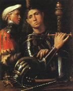 Giorgione Warrior with Shield Bearer oil painting picture wholesale
