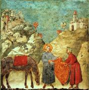 Giotto Saint Francis Giving his Mantle to a Poor Man oil painting picture wholesale