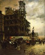 Giuseppe De Nittis The Place des Pyramides oil painting picture wholesale