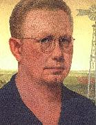 Grant Wood Self Portrait  bdfhbb oil painting picture wholesale