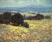 Granville Redmond California Oaks and Poppies oil painting picture wholesale
