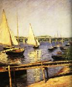 Gustave Caillebotte Sail Boats at Argenteuil oil painting picture wholesale