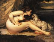 Gustave Courbet Nude with Dog oil painting picture wholesale