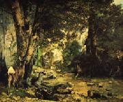 Gustave Courbet A Thicket of Deer at the Stream of Plaisir-Fontaine oil painting picture wholesale