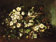 Gustave Courbet Apple Tree Branch in Flower oil painting picture wholesale