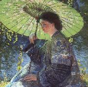 Guy Rose The Green Parasol oil painting picture wholesale