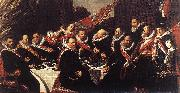 HALS, Frans Banquet of the Officers of the St George Civic Guard (detail) af oil painting picture wholesale