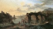 HEUSCH, Jacob de River View with the Ponte Rotto sg oil painting picture wholesale