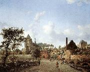 HEYDEN, Jan van der View of Delft sg oil painting picture wholesale