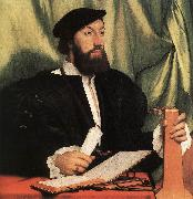 HOLBEIN, Hans the Younger Unknown Gentleman with Music Books and Lute sf oil painting picture wholesale