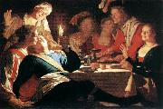 HONTHORST, Gerrit van The Prodigal Son af oil painting picture wholesale