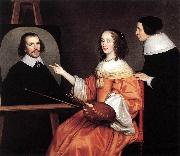 HONTHORST, Gerrit van Margareta Maria de Roodere and Her Parents sg oil painting picture wholesale