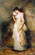 Hamilton Hamiltyon Woman with a Fan oil painting artist