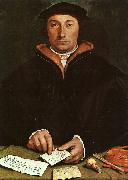 Hans Holbein Portrait of Dirck Tybis oil painting artist