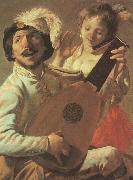 Hendrick Terbrugghen The Duet-l oil painting picture wholesale
