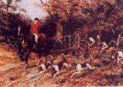 Heywood Hardy Calling the Hounds Out of Cover oil painting artist