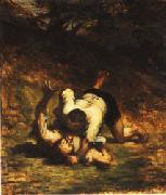 Honore  Daumier The Thieves and the Donkey oil painting picture wholesale