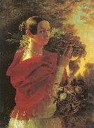 Ivan Khrutsky Young Woman with a Basket oil painting picture wholesale