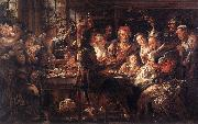JORDAENS, Jacob The Bean King f oil painting reproduction