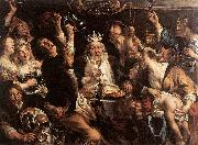 JORDAENS, Jacob The King Drinks s oil painting picture wholesale