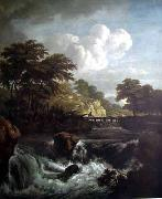 Jacob van Ruisdael Sunlight on the Waterfront oil painting picture wholesale
