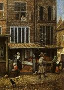 Jacobus Vrel Street Scene with Bakery oil painting picture wholesale