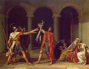 Jacques-Louis David Oath of the Horatii oil painting artist