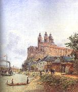 Jakob Alt The Monastery of Melk on the Danube oil painting artist