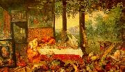 Jan Brueghel The Sense of Taste Sweden oil painting reproduction