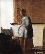 Jan Vermeer Woman in Blue Reading a Letter oil painting picture wholesale