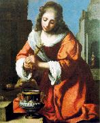 Jan Vermeer Saint Praxidis oil painting artist
